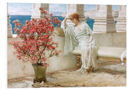 Quadro em PVC  Her eyes are with her thoughts and they are far away - Lawrence Alma-Tadema