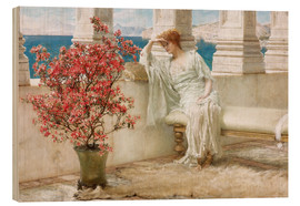 Quadro de madeira  Her eyes are with her thoughts and they are far away - Lawrence Alma-Tadema