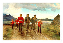 Póster Premium  'Listed for the Connaught Rangers': Recruiting in Ireland, 1878 - Lady Butler