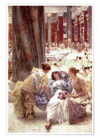 Póster Premium  The Baths of Caracalla - Lawrence Alma-Tadema
