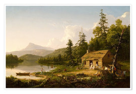 Póster Premium  Home in the Woods - Thomas Cole