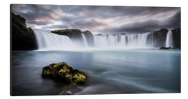 Quadro em alumínio  Godafoss Waterfall in Iceland - Andreas Wonisch
