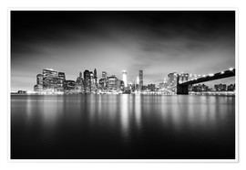 Póster Premium New York Skyline