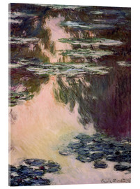 Quadro em acrílico  Waterlilies with Weeping Willows - Claude Monet