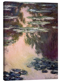 Quadro em tela  Waterlilies with Weeping Willows - Claude Monet