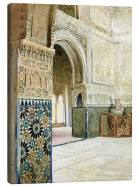 Quadro em tela  Interior of the Alhambra, Granada - French School