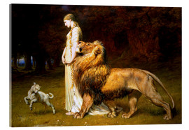 Quadro em acrílico  Una and the Lion, from Spenser's Faerie Queene - Briton Riviere