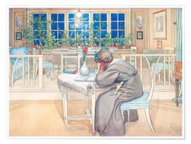 Póster Premium  The Evening Before the Journey to England - Carl Larsson