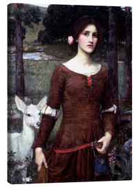 Quadro em tela  Lady Clare - John William Waterhouse