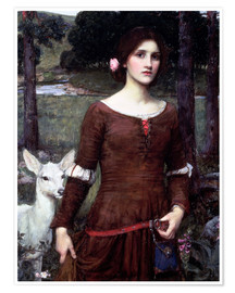 Póster Premium  Lady Clare - John William Waterhouse