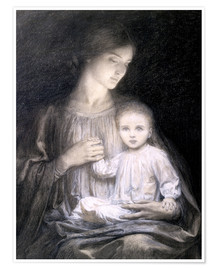 Póster Premium Mother and Child, c.1920