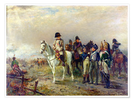 Póster Premium  The Turning Point at Waterloo - Robert Alexander Hillingford
