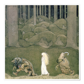 Póster Premium The Princess and the Trolls, 1913