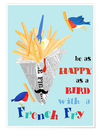 Póster Premium  Bird with a french fry - Elisandra Sevenstar