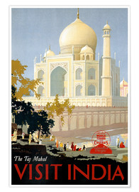 Póster Premium  Indien - Taj Mahal - Travel Collection