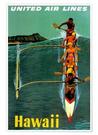 Póster Premium  Hawaii - Travel Collection