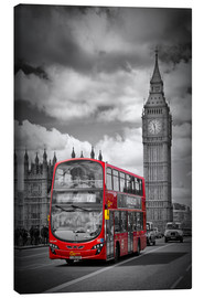 Quadro em tela  LONDON Red Bus and Big Ben - Melanie Viola