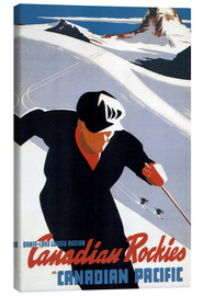 Quadro em tela  Skiing in the Canadian Rockies - Travel Collection