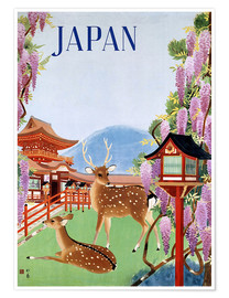 Póster Premium  Vintage Japan tourism - Travel Collection