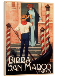 Quadro de madeira  Italy - Birra San Marco Venice - Travel Collection