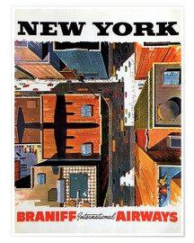 Póster Premium  New York City - Travel Collection