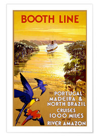 Póster Premium Portugal, Madeira and Brazil