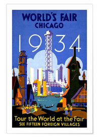 Póster Premium  Chicago - Worlds Fair 1934 - Travel Collection