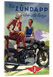 Quadro em acrílico  With Zündapp over the hills (German) - Advertising Collection