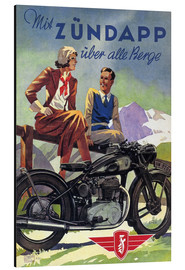 Quadro em alumínio  With Zündapp over the hills (German) - Advertising Collection