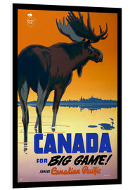 Quadro em PVC  Canada - big game - Travel Collection