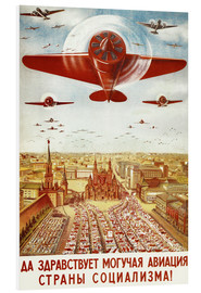 Quadro em PVC  Aircraft parade on Moscow - Advertising Collection