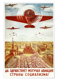 Póster Premium  Aircraft parade on Moscow - Advertising Collection