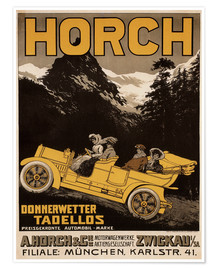 Póster Premium  Horch cars - Golly impeccable - Advertising Collection