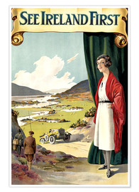 Póster Premium  see Ireland first - Travel Collection