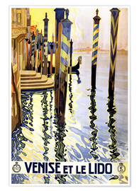 Póster Premium  Italy - Venice - Travel Collection