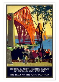 Póster Premium  Forth Bridge London Railway - Travel Collection