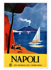 Póster Premium  Nápoles, Itália - Travel Collection