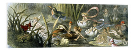 Quadro em PVC  Water-Lilies and Water Fairies - Richard Doyle
