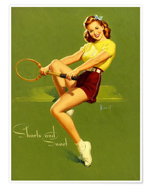 Póster Premium  Pin Up - Shorts and Sweet - Al Buell