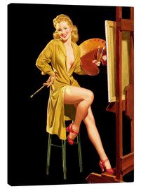 Quadro em tela  Pin up with a color palette - Al Buell