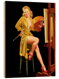 Quadro de madeira  Pin up with a color palette - Al Buell
