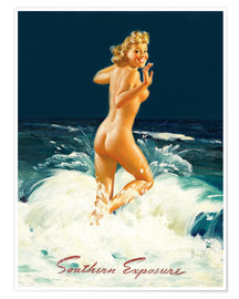 Póster Premium  Pin Up - Southern Exposure - Al Buell