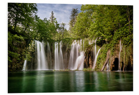 Quadro em PVC  Paradise Waterfall in Plitvice - Andreas Wonisch