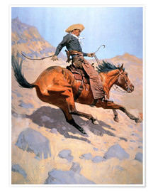 Póster Premium  The Cowboy - Frederic Remington