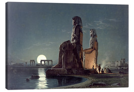 Quadro em tela  The Colossi of Memnon, Thebes - Carl Friedrich Heinrich Werner