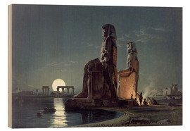 Quadro de madeira  The Colossi of Memnon, Thebes - Carl Friedrich Heinrich Werner