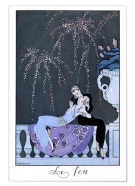 Póster Premium  The Fire - Georges Barbier