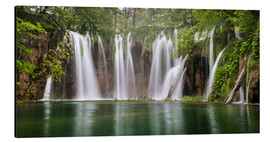 Quadro em alumínio  Paradise like waterfall in plitvice - Andreas Wonisch