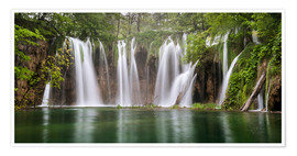 Póster Premium  Paradise like waterfall in plitvice - Andreas Wonisch