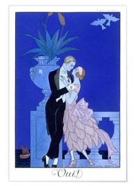 Póster Premium  Yes! 1921 - Georges Barbier